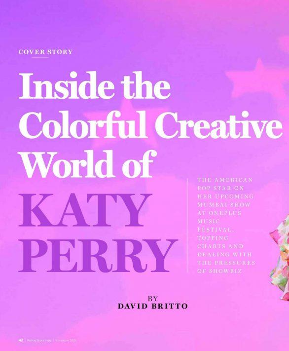 Katy Perry 2019 : Katy Perry – Rolling Stone Magazine (India – November 2019)-03