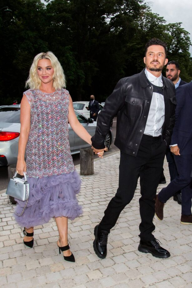 Katy Perry - Seen with Orlando Bloom at Louis Vuitton Fragance Dinner in Paris