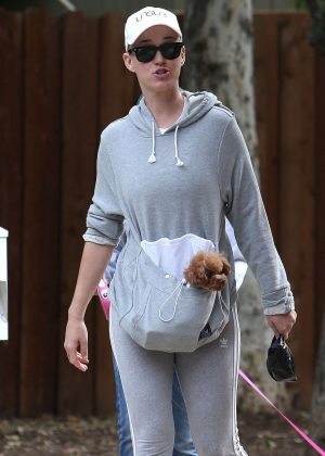 Katy Perry - Walking her dog in Studio City