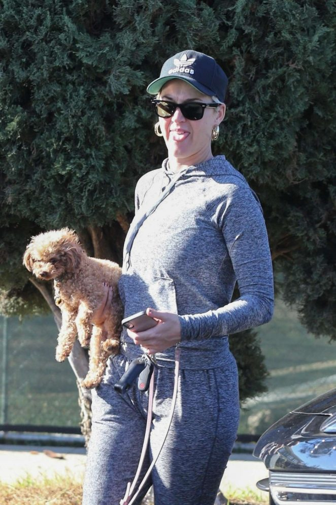 Katy Perry with her dog - Out in Los Angeles