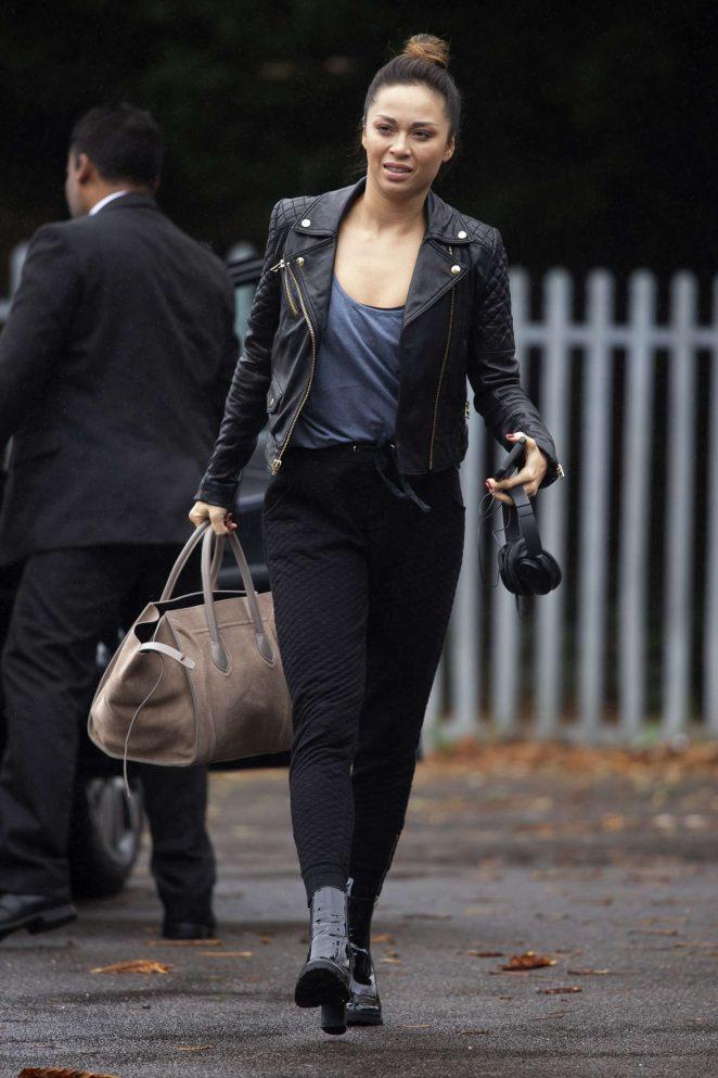 Katya Jones - Leaves her home in London