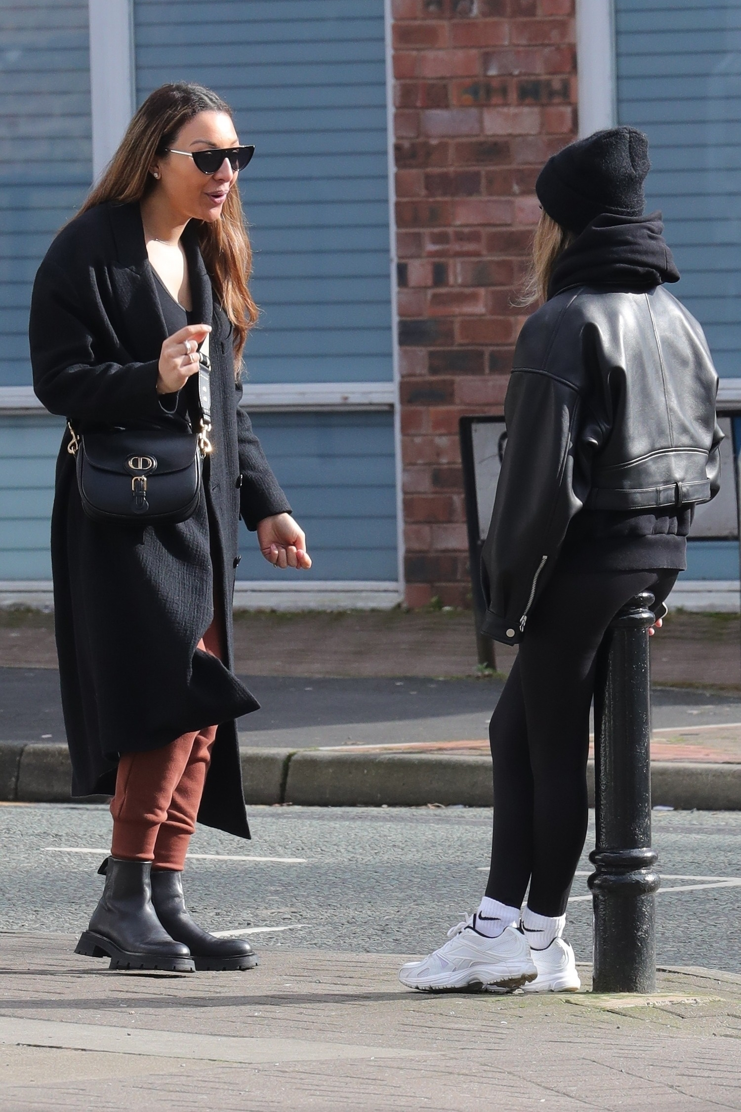 Kaya Hall and Anouska Santos - Seen while out for essentials in Hale Cheshire
