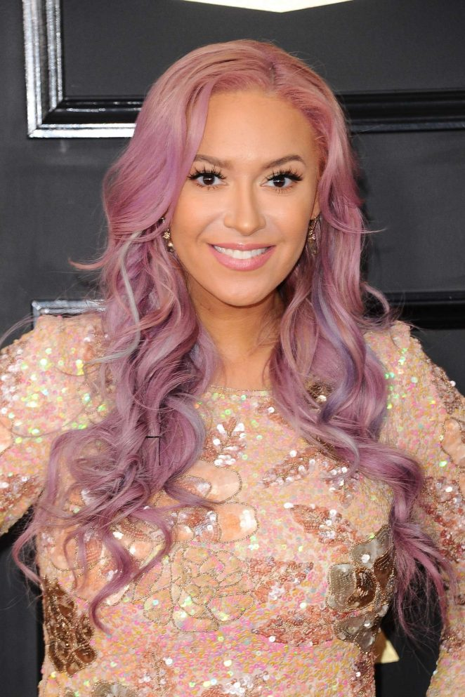 Kaya Jones - 59th GRAMMY Awards in Los Angeles