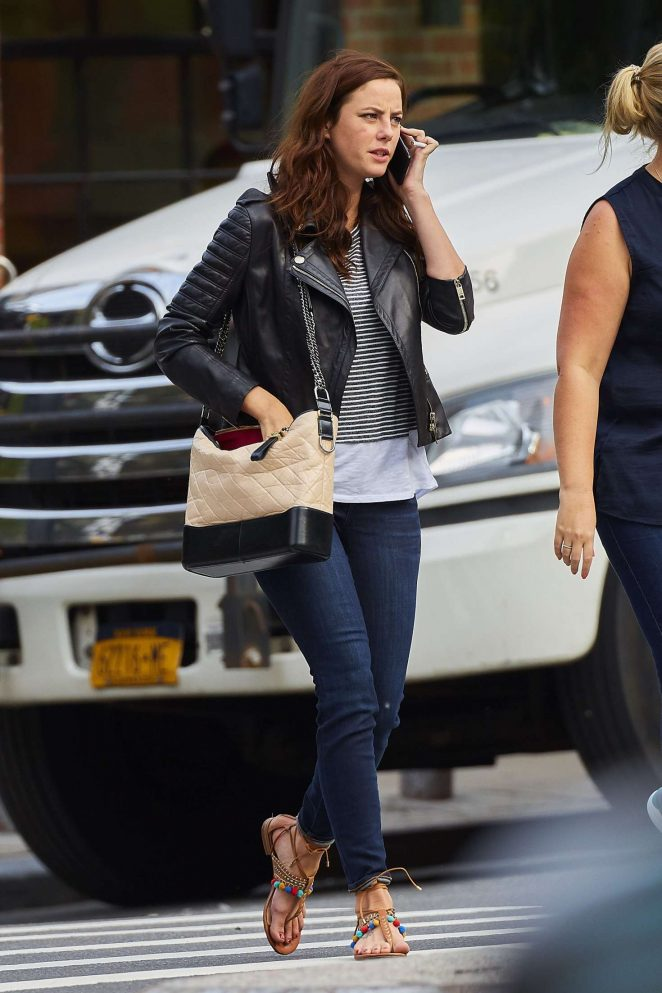 Kaya Scodelario in Jeans out in NYC