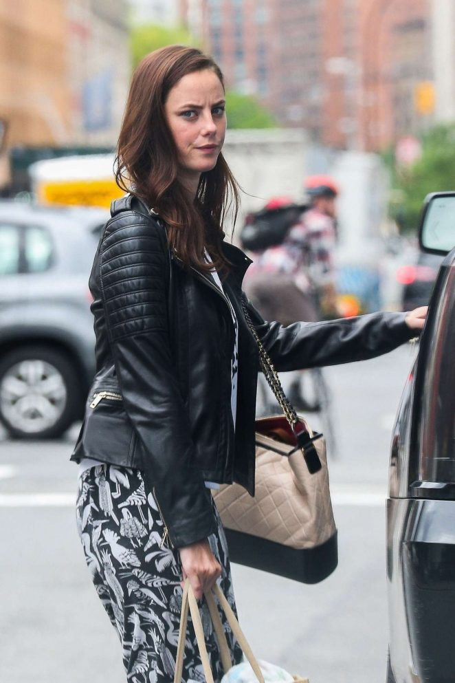 Kaya Scodelario Leaves her hotel in the East Village