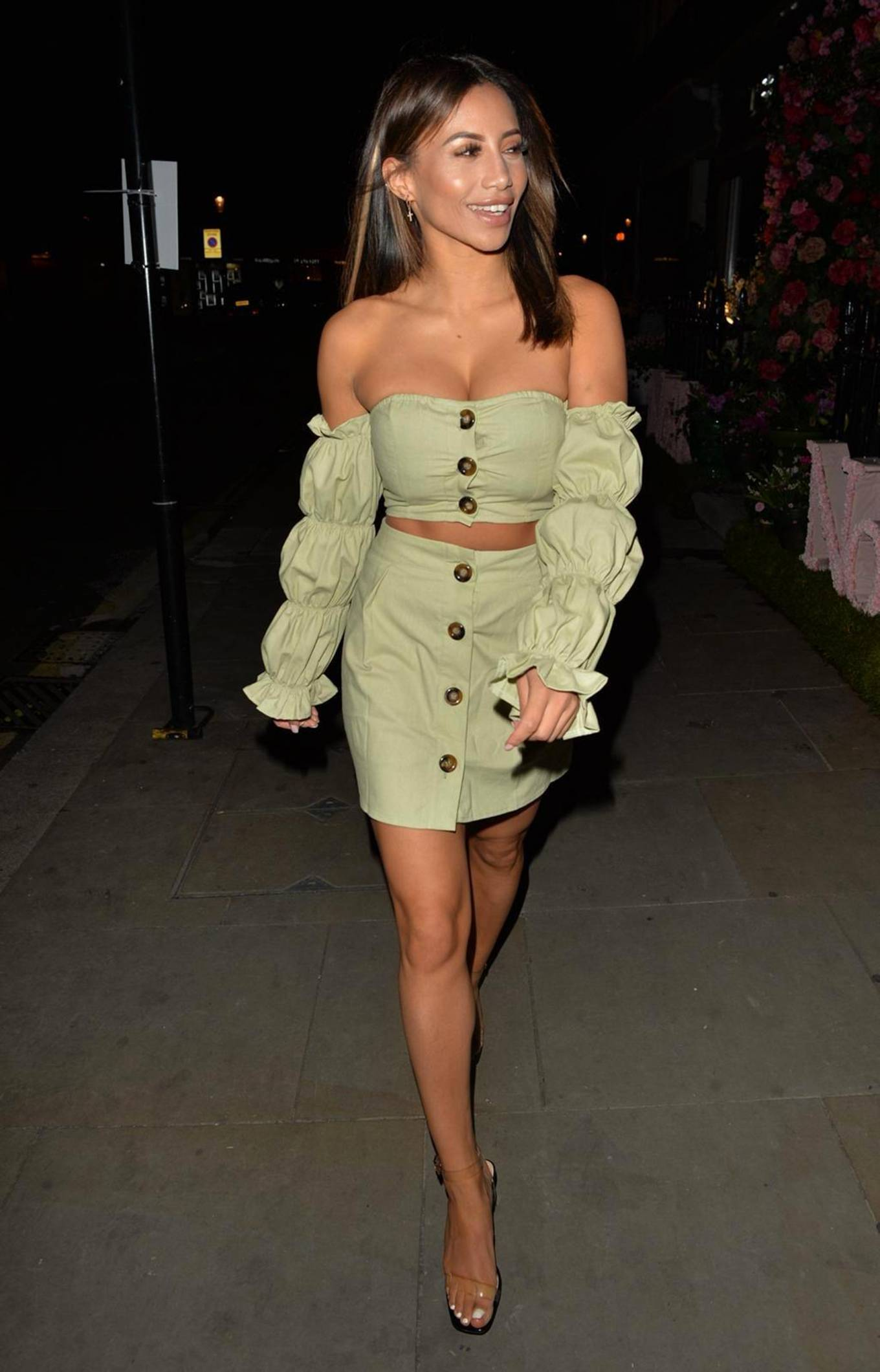 Kayleigh Morris 2020 : Kayleigh Morris – Looking chic while night out in London-06