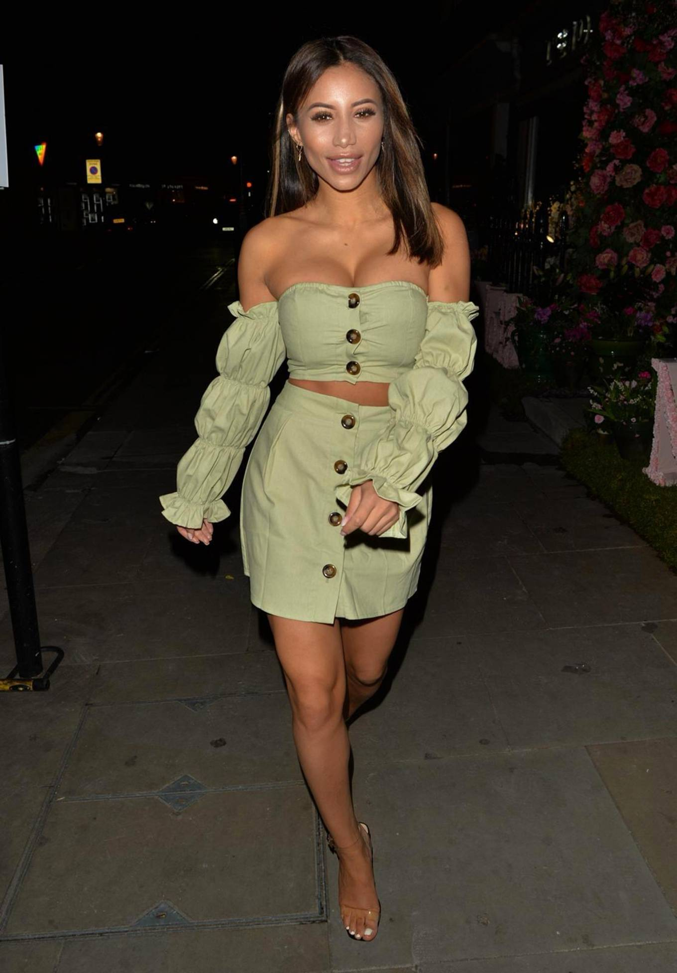 Kayleigh Morris 2020 : Kayleigh Morris – Looking chic while night out in London-09