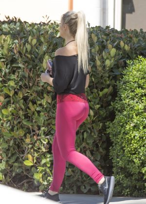 Kaylyn Slevin in Pink Tights out in Calabasas