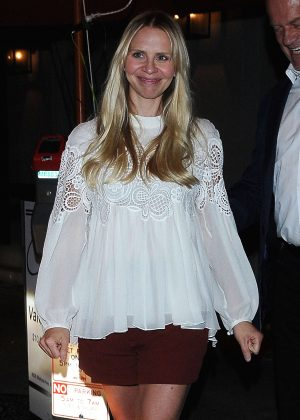 Kayte Walsh - Leaves Craig's Restaurant in West Hollywood