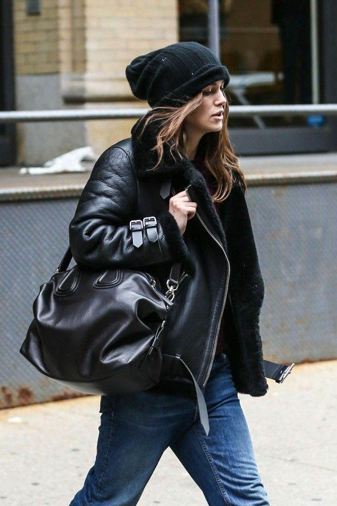 Keira Knight seen walking through the city on Boxing Day in New York