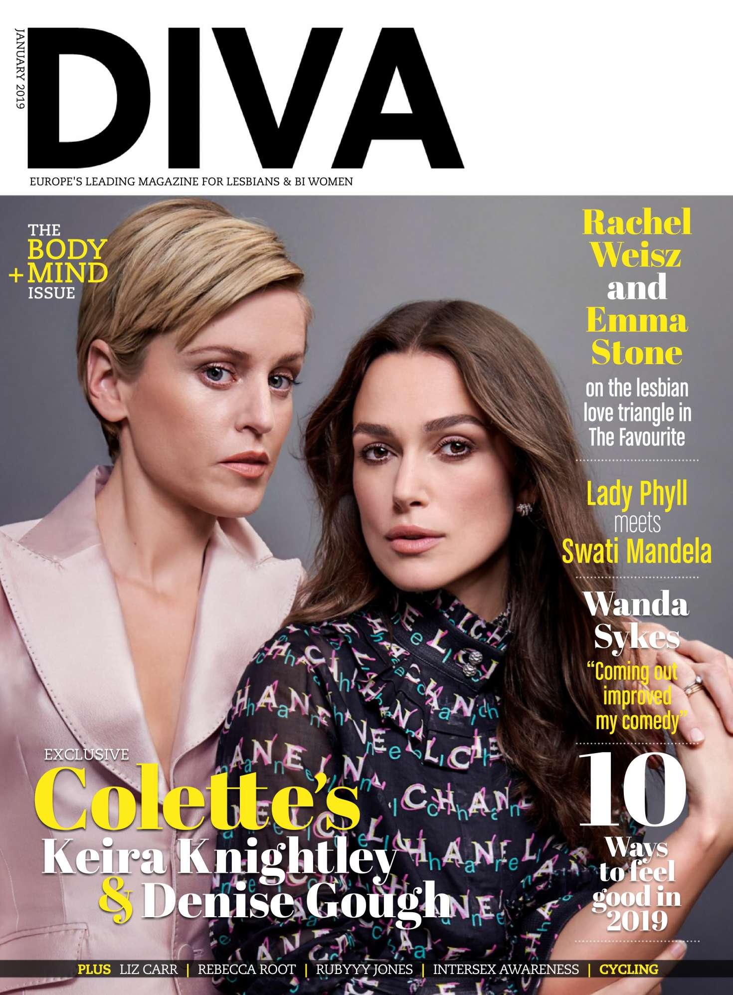 Keira Knightley and Denise Gough - Diva UK Magazine (January 2019)