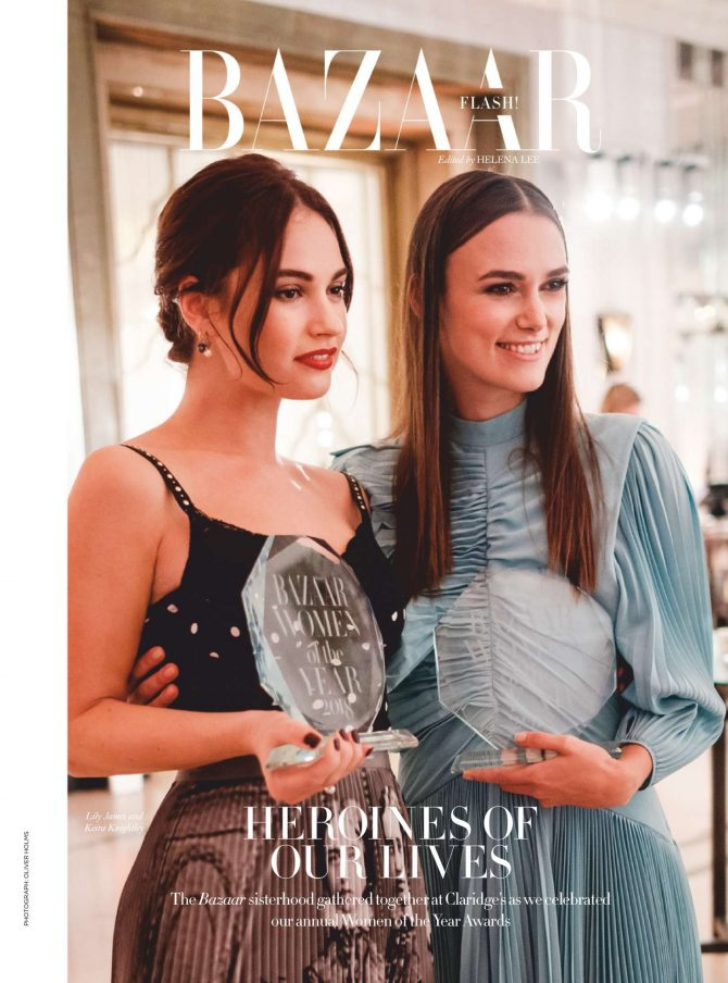 Keira Knightley and Lily James – Harper's Bazaar UK Cover (February 2019)