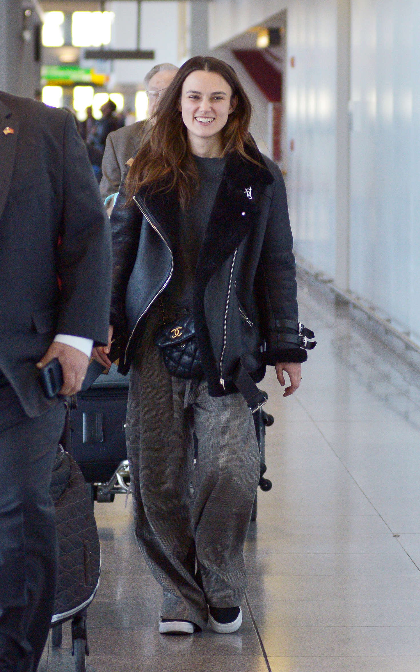 Keira Knightley - Arrives at JFK Airport in New York