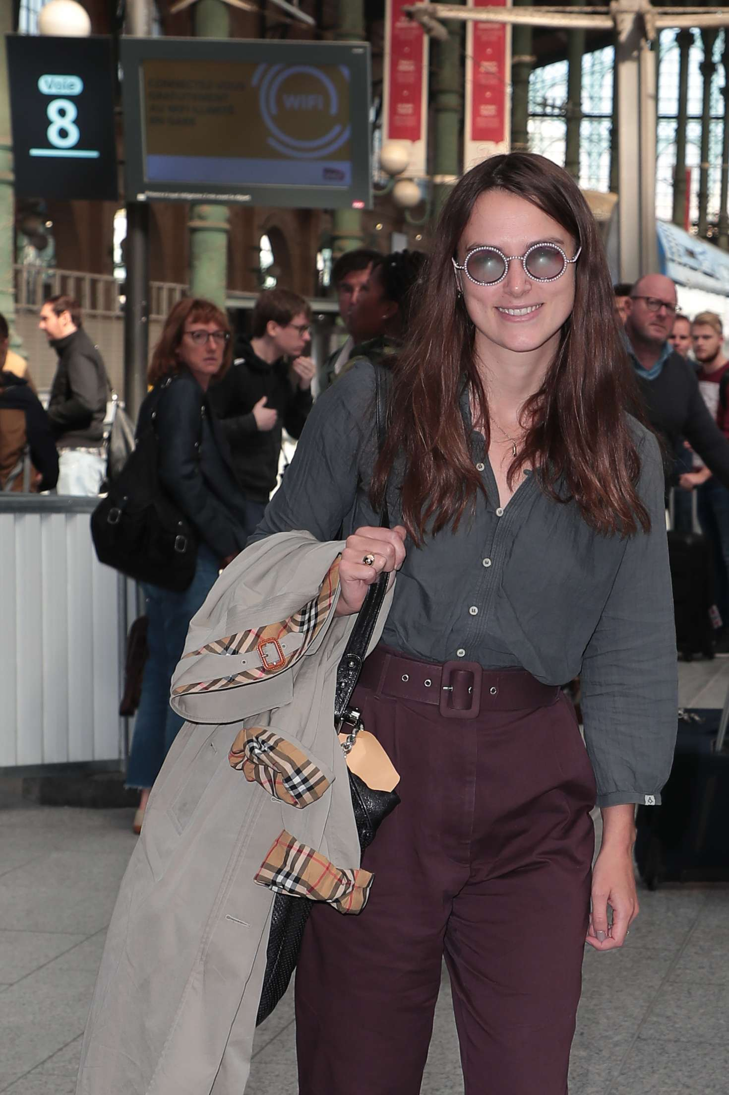 Keira Knightley - Arriving with the Eurostar in Paris