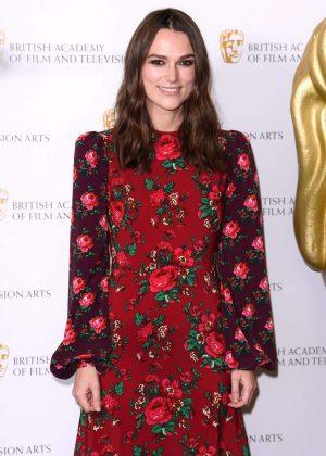 Keira Knightley at BAFTA 2018 in London