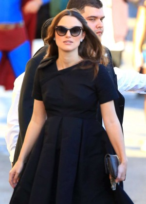 """Pregnant Keira Knightley at """"Jimmy Kimmel Live!"""" in Hollywood"""