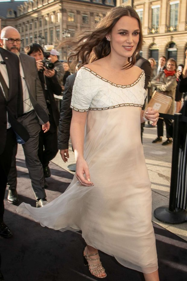 Keira Knightley - CHANEL J12 Cocktail on Place Vendome in Paris
