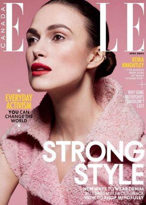 Keira Knightley - Elle Canada Cover Magazine (April 2018)