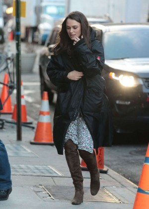 Keira Knightley - Filming 'Collateral Beauty' in New York