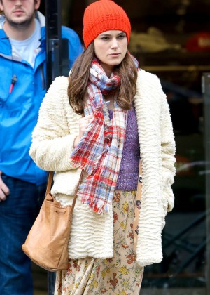 Keira Knightley - Filming 'Collateral Beauty' set in New York