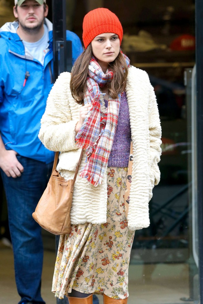 Keira Knightley: Filming Collateral Beauty set -04