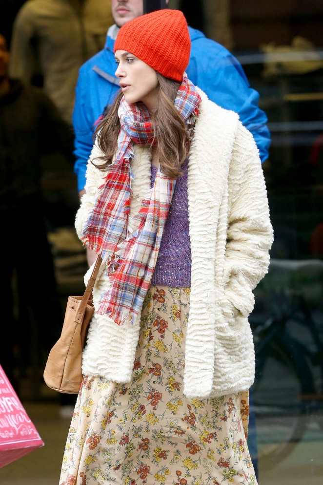 Keira Knightley: Filming Collateral Beauty set -09