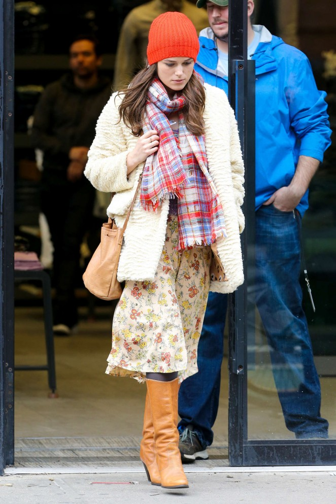 Keira Knightley: Filming Collateral Beauty set -14