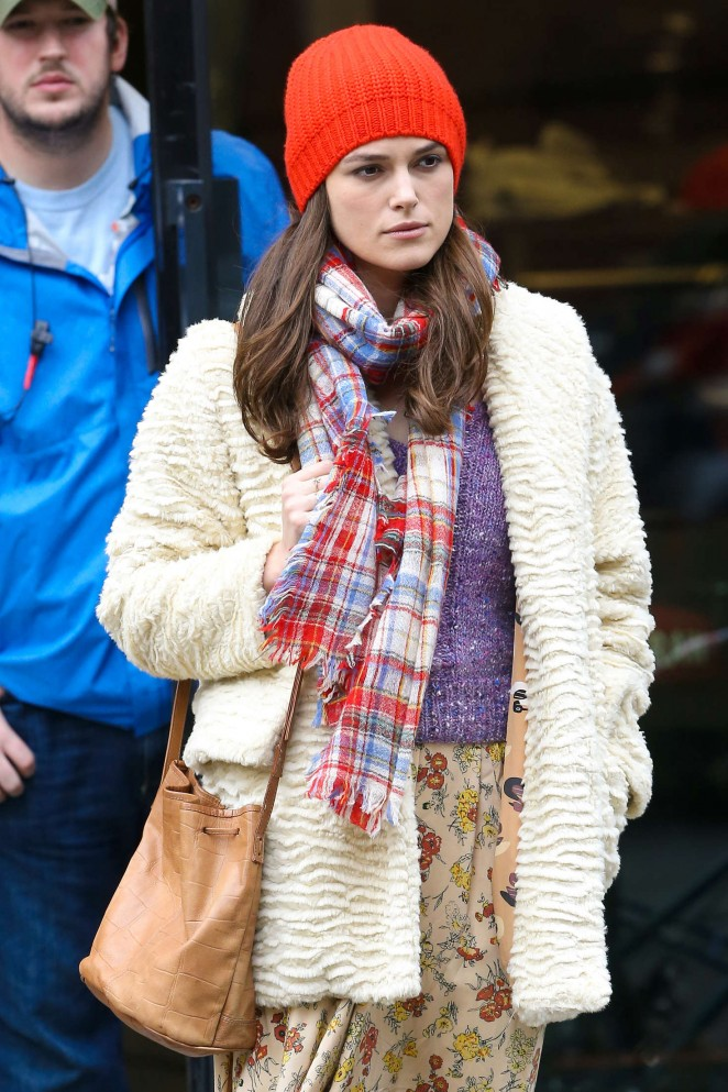 Keira Knightley: Filming Collateral Beauty set -15