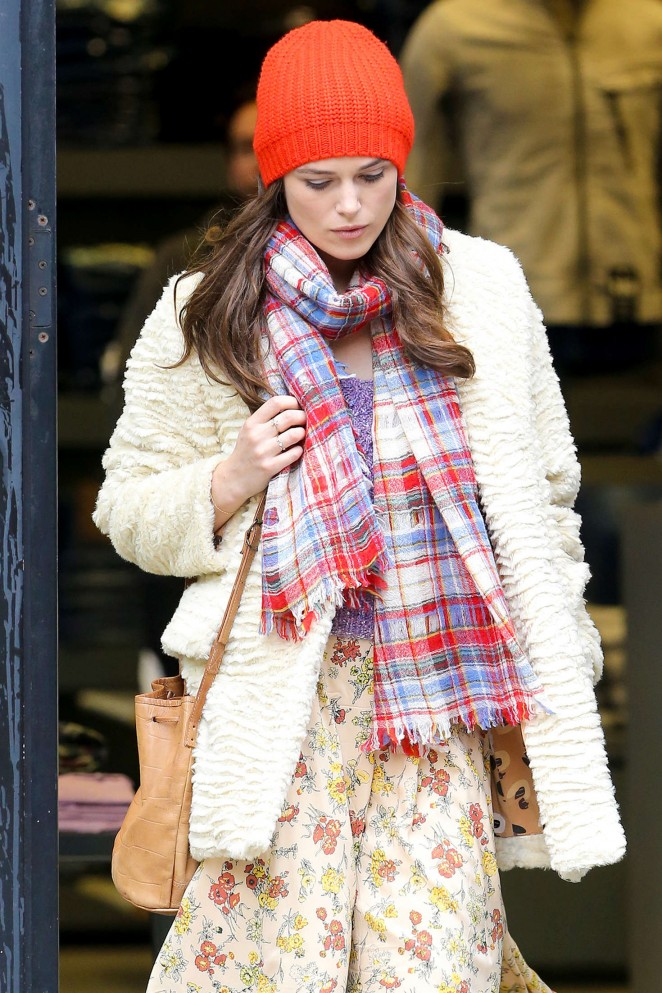 Keira Knightley: Filming Collateral Beauty set -16