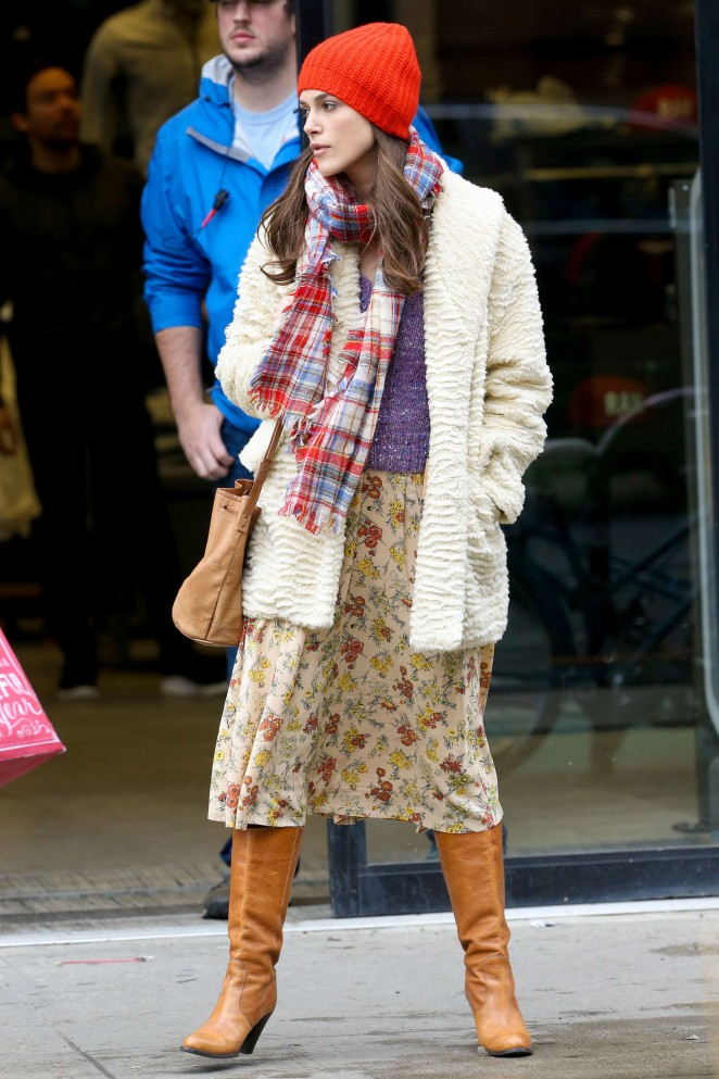 Keira Knightley: Filming Collateral Beauty set -17
