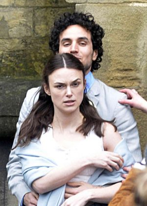 Keira Knightley - Filming 'Official Secrets' in Wetherby