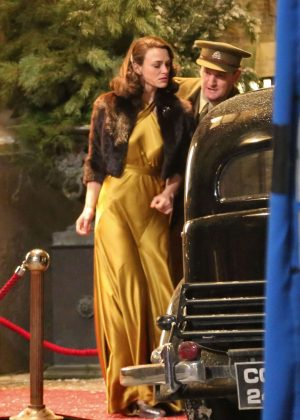 Keira Knightley - Filming 'The Aftermath' set in Prague