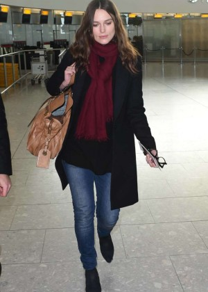 Keira Knightley in Jeans on London Airport