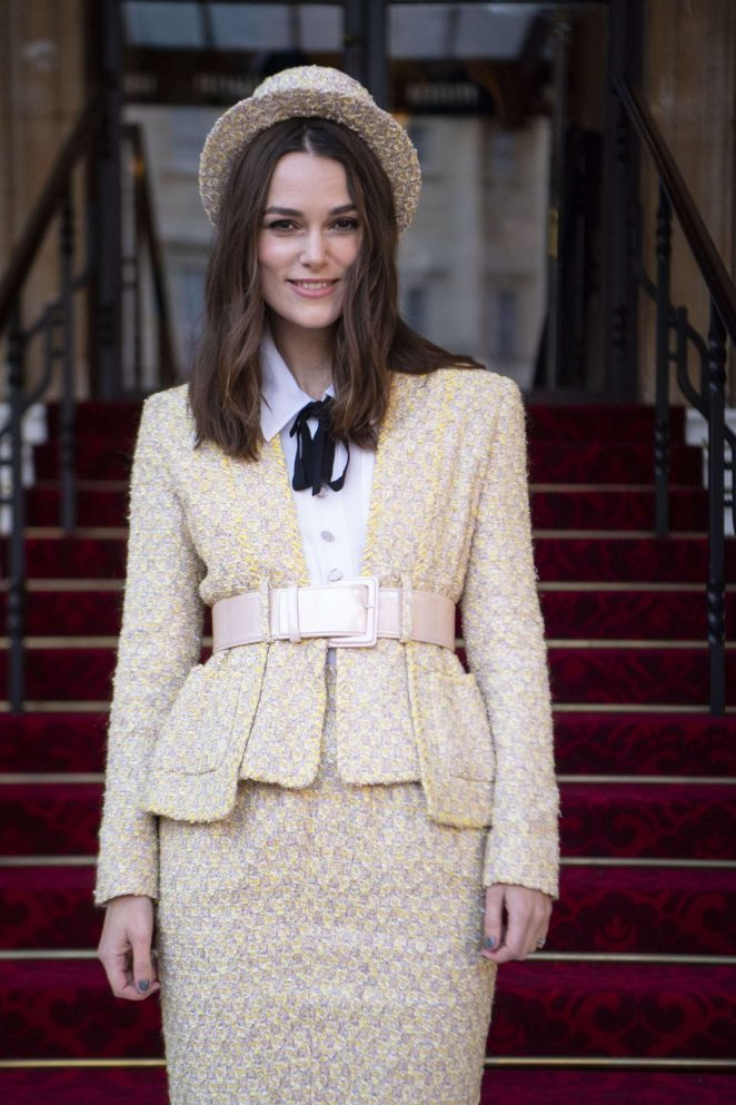 Keira Knightley - Investiture at Buckingham Palace in London