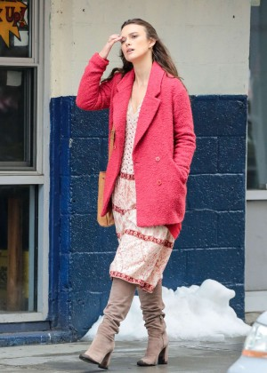 Keira Knightley on set of 'Collateral Beauty' in New York