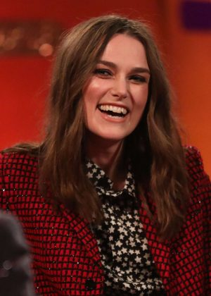 Keira Knightley - On The Graham Norton New Year's Eve Show in London