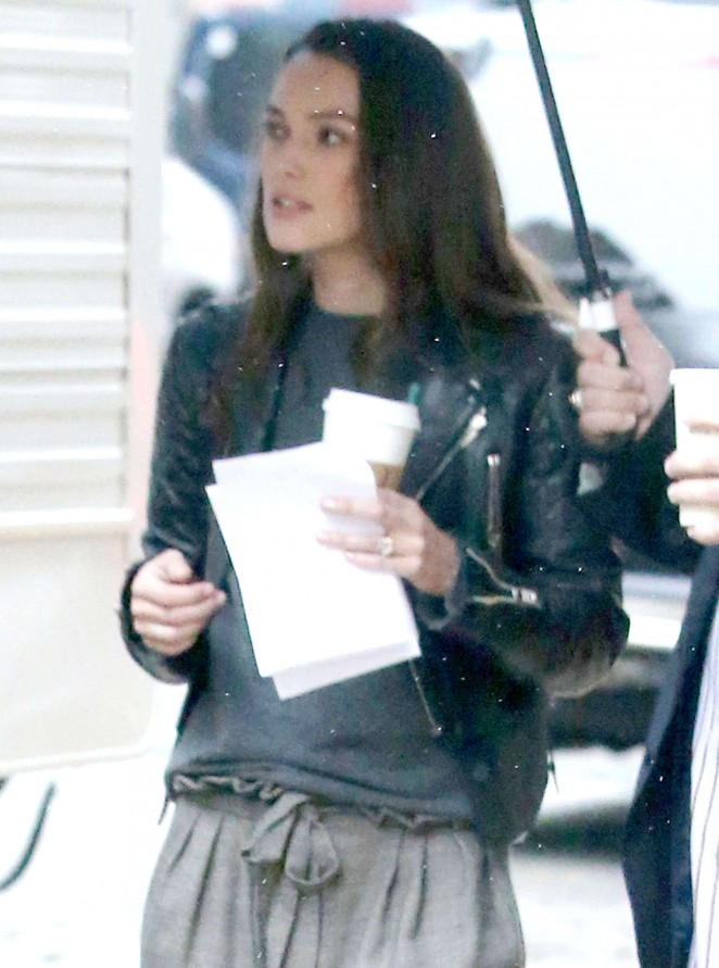 Keira Knightley - On the set of 'Collateral Beauty' in New York