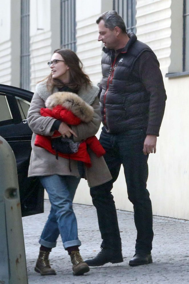Keira Knightley on the set of 'The Aftermath' in Prague