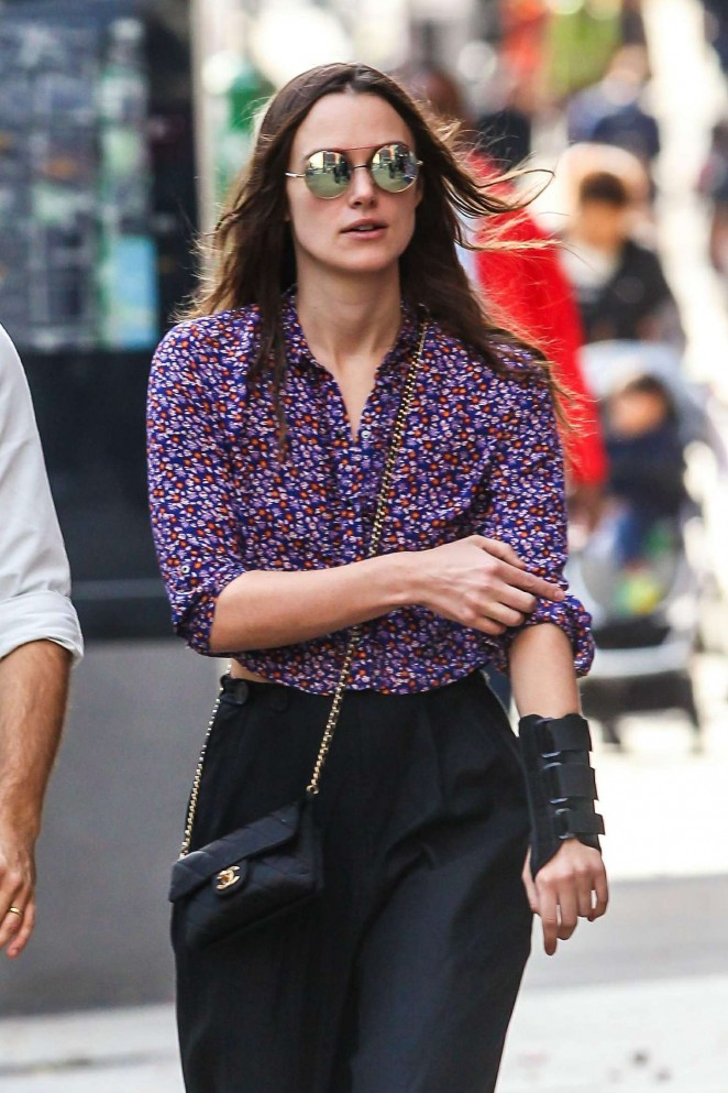 Keira Knightley out and about in New York