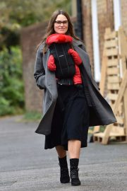 Keira Knightley - Out on a stroll with newborn baby daughter Delilah in London