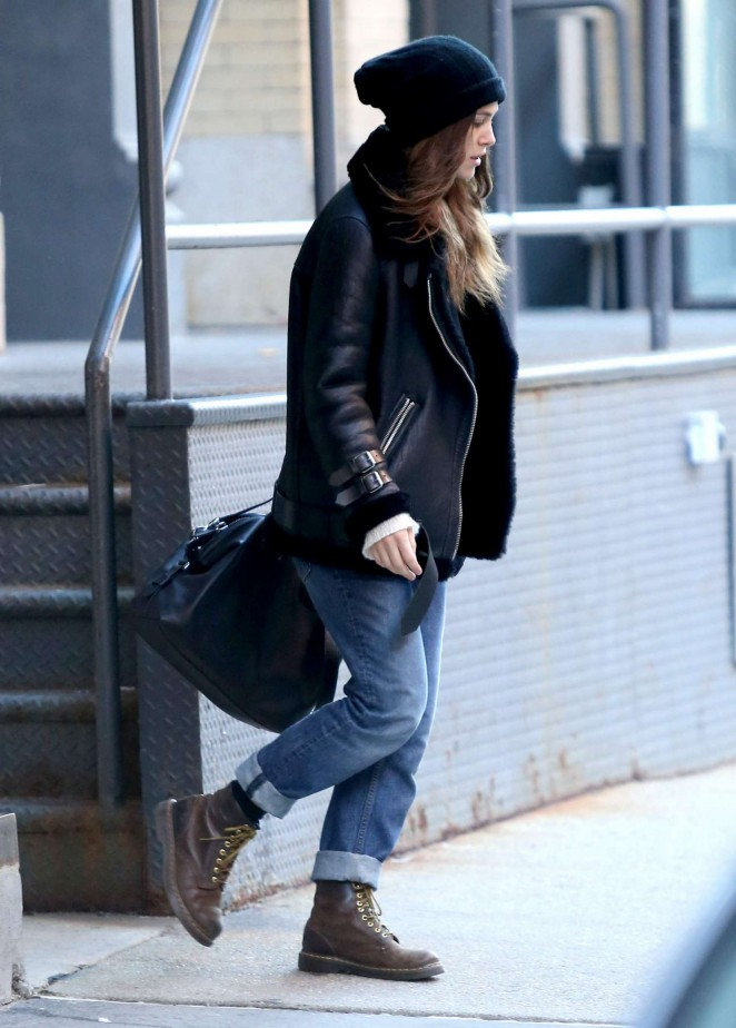 Keira Knightley Leaving Her Home In NY