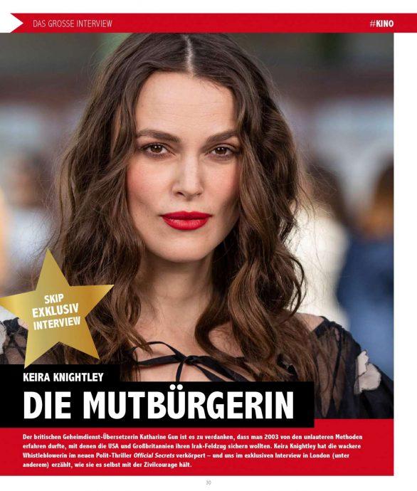 Keira Knightley - SKIP Magazine (November 2019)