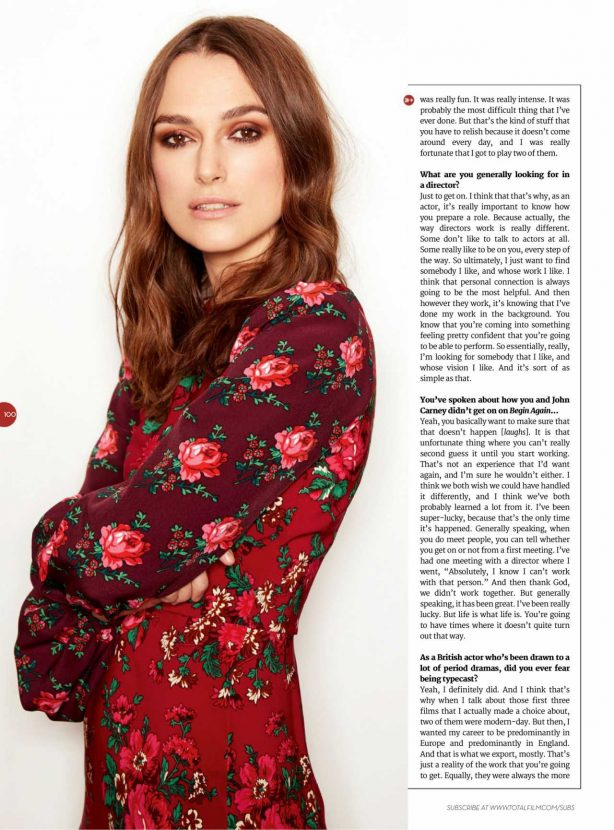 Keira Knightley - Total Film Magazine - March 2020