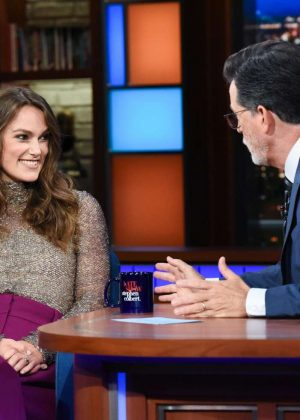 Keira Knightley - Visits The Late Show With Stephen Colbert in NY