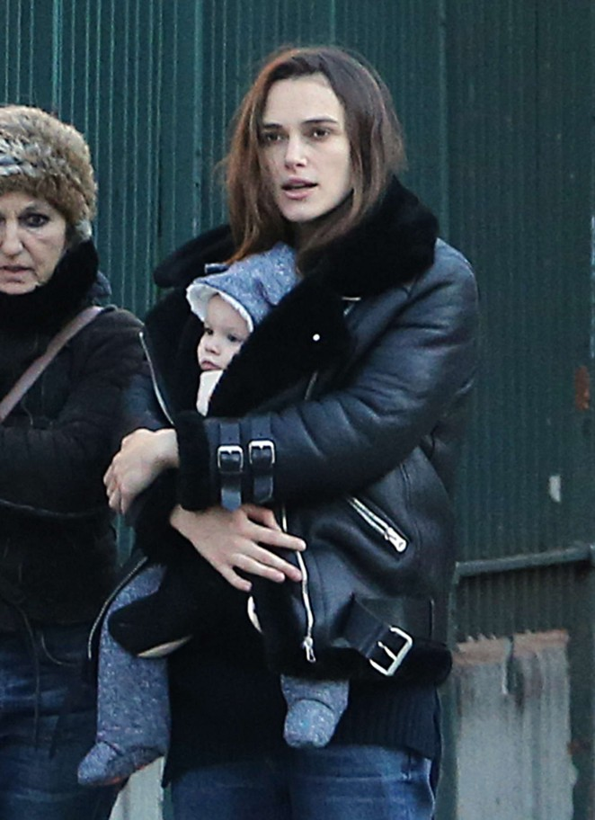 Keira Knightley With her daughter out in NYC