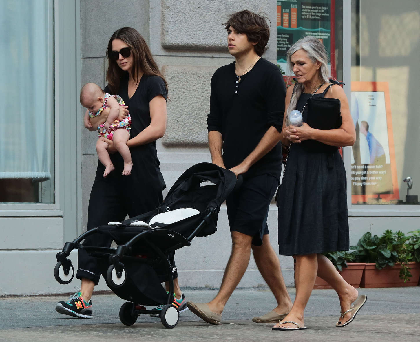 Keira Knightley with her family in NYC -15 | GotCeleb