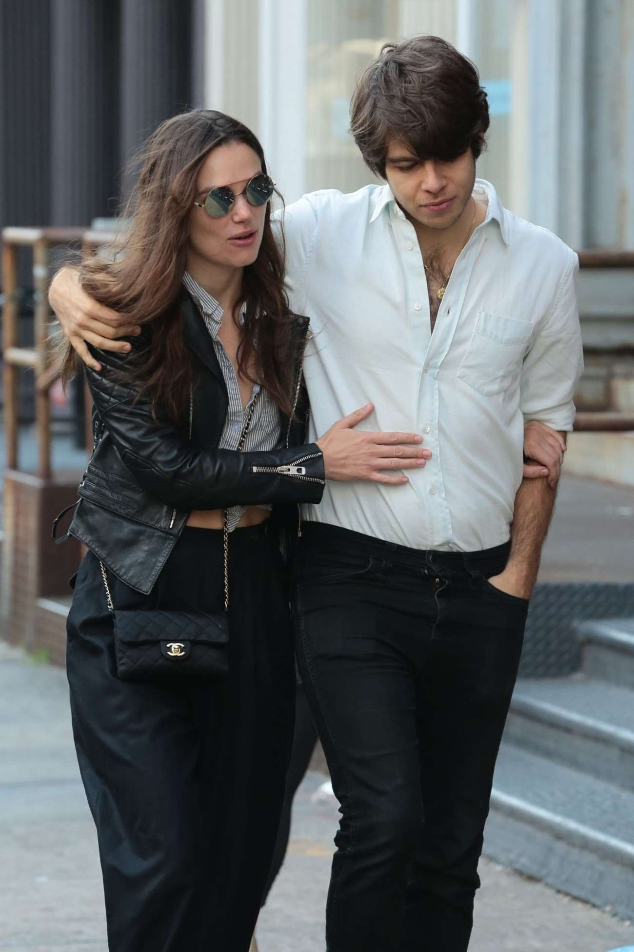 Keira Knightley with James Righton Out in New York