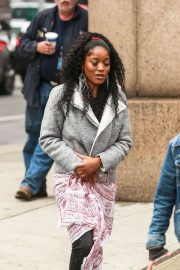 Keke Palmer - Arrives to the set of 'Hustlers' in NYC