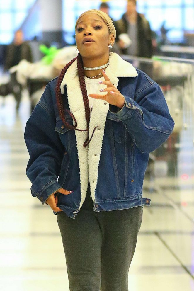 Keke Palmer at JFK Airport in NYC