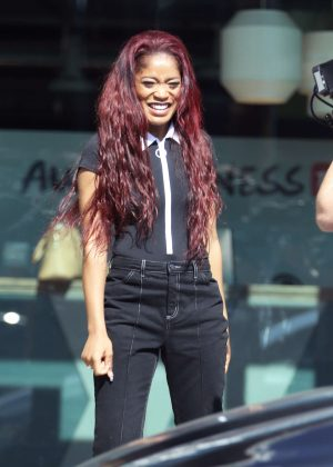 Keke Palmer - Filming a scene for 'AwesomenessTV' in Los Angeles